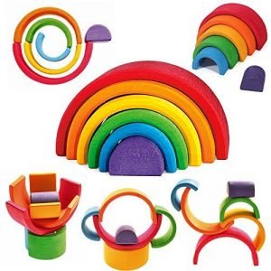 Grimm's Stacking Toys 6 Piece Rainbow Stacker
