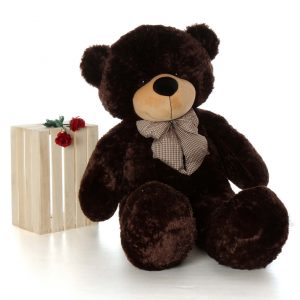 BROWNIE CUDDLES SOFT AND HUGGABLE CHOCOLATE BROWN GIANT TEDDY BEAR In Love