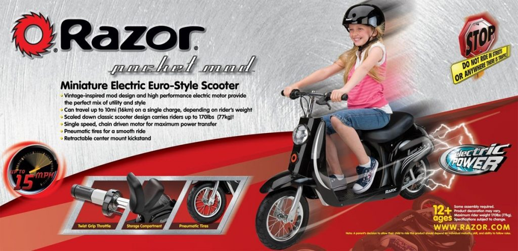 Razor Pocket Mod Electric Scooter Reviews Great