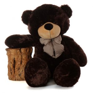 BROWNIE CUDDLES SOFT AND HUGGABLE CHOCOLATE BROWN GIANT TEDDY BEAR