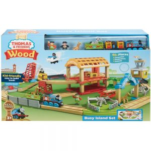 Thomas And Friends Wood Busy Island Set